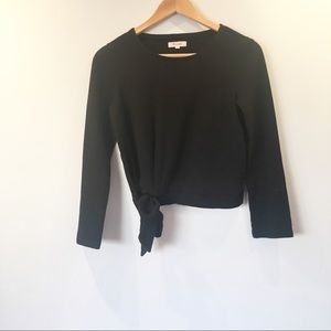 Madewell Side Tie Long Sleeve Top